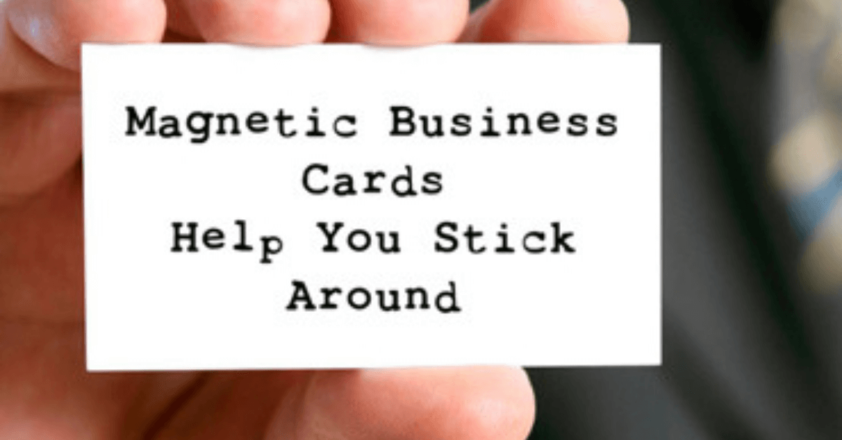 Creative Ways to Share Your Magnetic Business Cards
