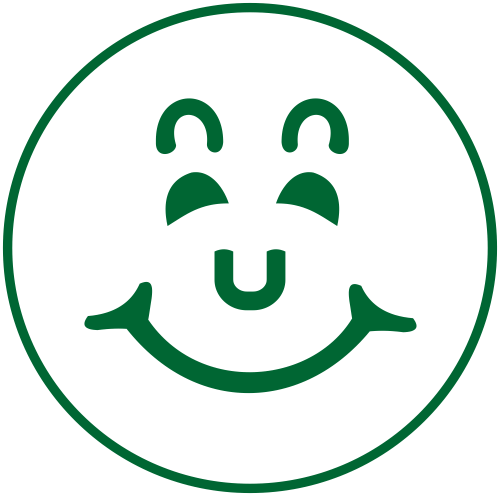 Smiley Face Round Border Stamp