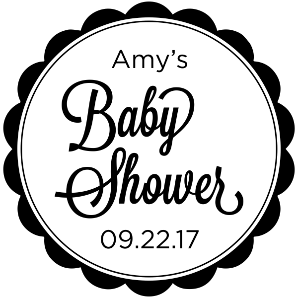 Custom Baby Shower Stamp Round ...