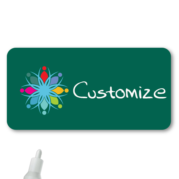 Customized 1.5 x 3 Chalkboard Reusable Name Tag