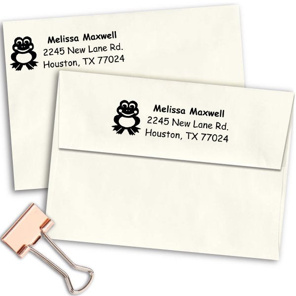 Smiling Frog Personalized Address Stamp