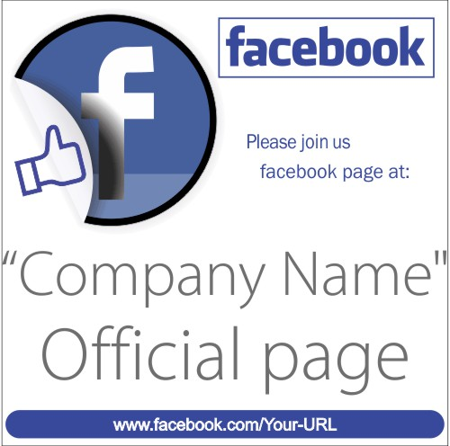 join our facebook page sign