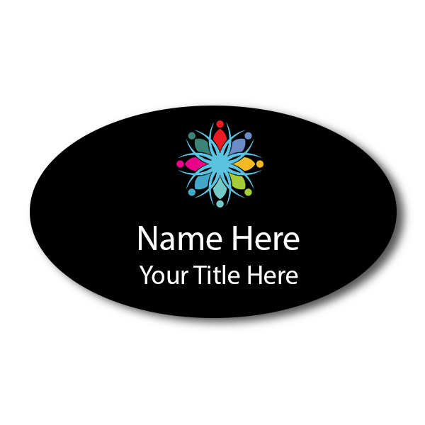 Oval 1.75 x 3 Name Tag