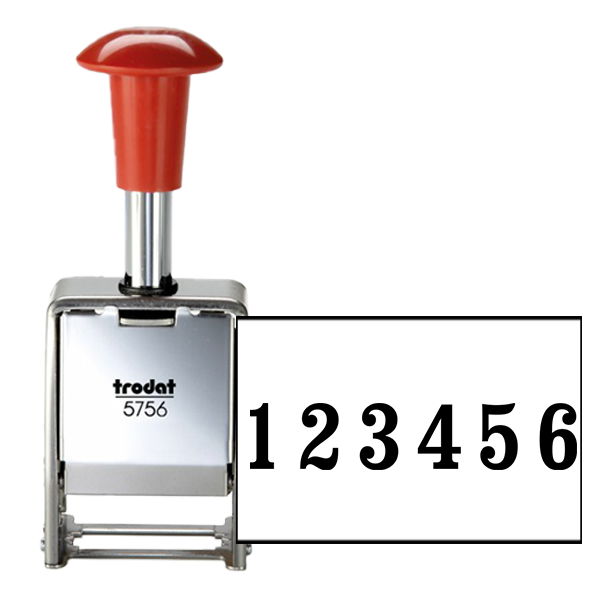 6 Digit Automatic Number Stamp Metal