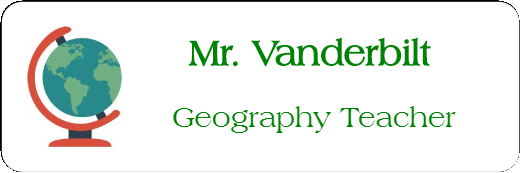 Geography Rectangle 2 Line Name Tag