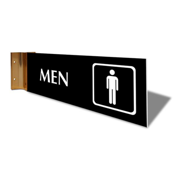 """Men's Room Icon Projection Sign 