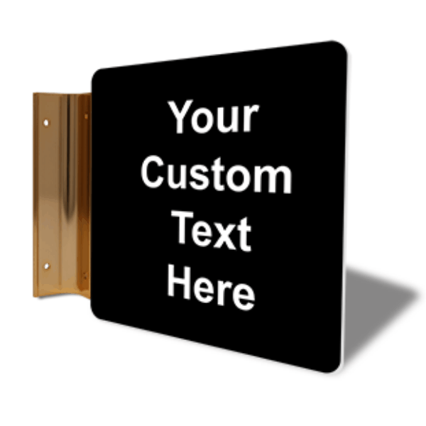 "Custom Text Projection Sign | 6"" x 6"""