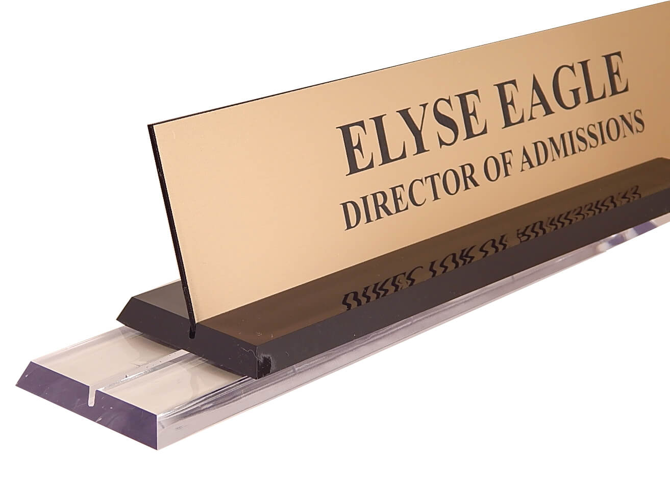 2 in x 8 in Clear Acrylic Base Desk Sign - CA28