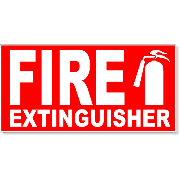 """Fire Extinguisher Engraved Plastic Sign 