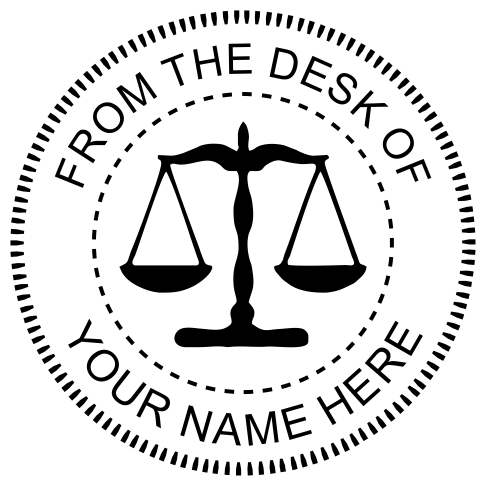 From The Desk Of Seal With Scales Of Justice Holmes