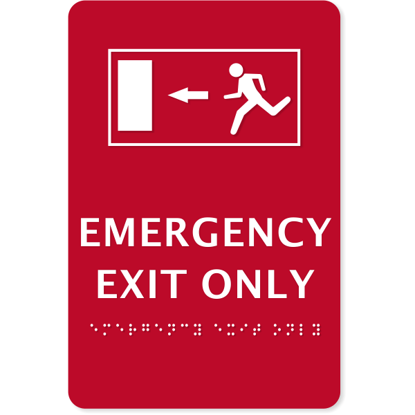 "ADA Compliant Emergency Exit Only Sign | 9"" x 6"""
