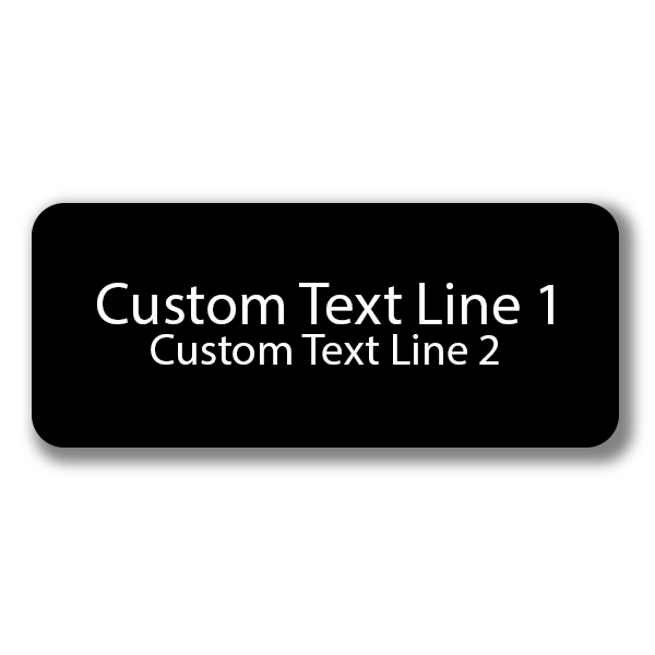 2 Line Laser Engraved Custom Name Tag