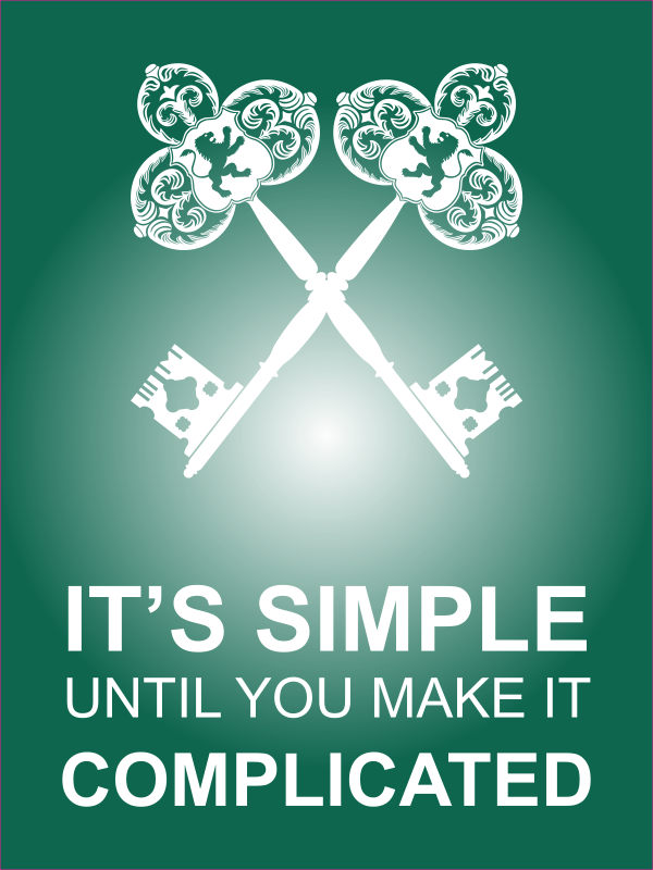 """18"""" x 24"""" It's Simple Until Complicated Poster Sign - Green"""