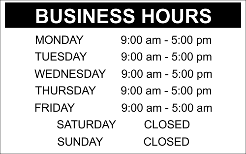 Business Hours - 10