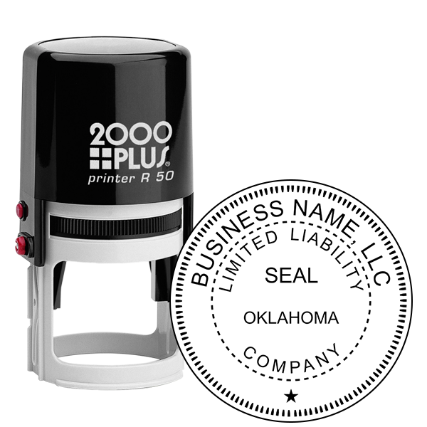 State of Oklahoma LLC Corporate Seal