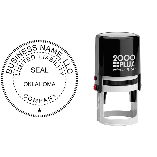State of Oklahoma LLC Corporate Seal Seal Body and Imprint