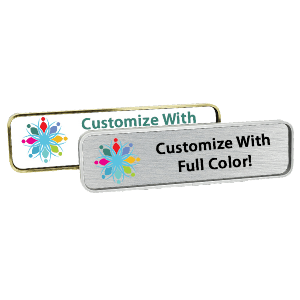 Executive Wall Name Plate with Full Color Insert (Rounded Corners) 1.75