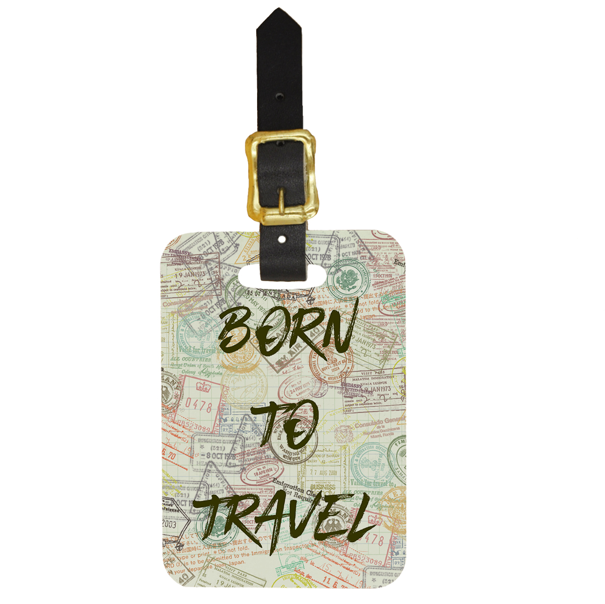 Born to Travel Custom Luggage Tag