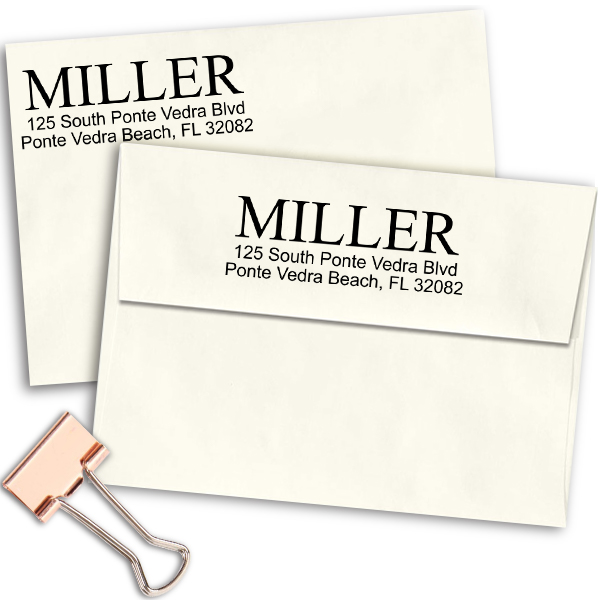 Large Last Name Address Stamp