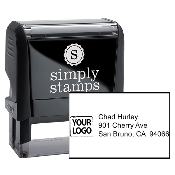Custom Logo Return Address Stamp
