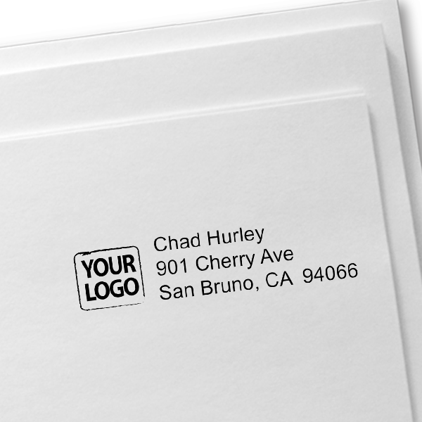 Custom Logo Return Address Stamp Imprint Example