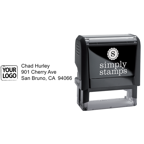 Custom Logo Return Address Stamp Body and Design