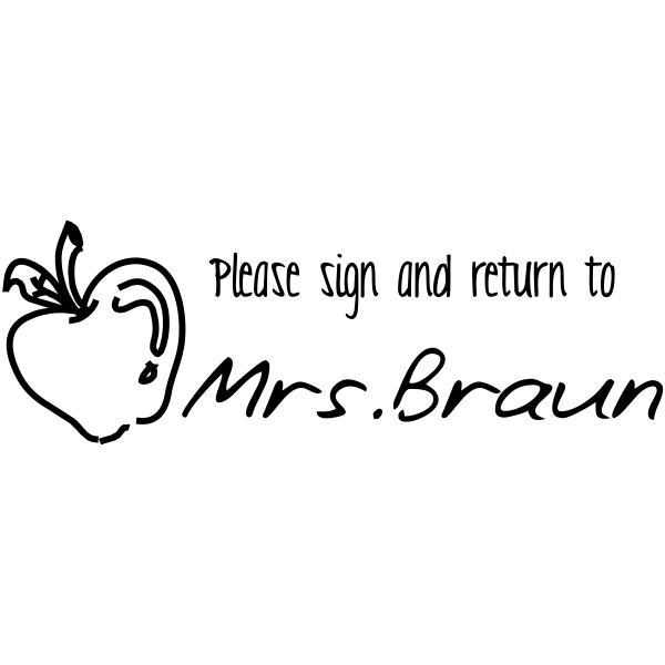 Sign & Return Stamp with Apple