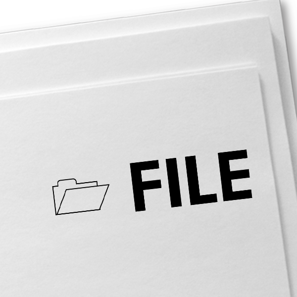 FILE with Folder Stock Stamp