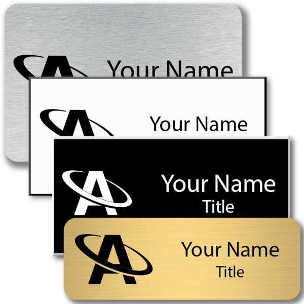 Engraved Rectangle Name Tag