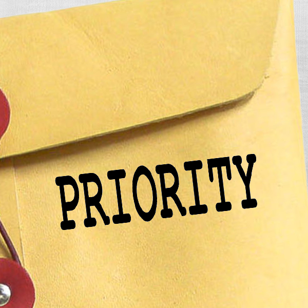 PRIORITY Stock Stamp