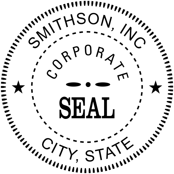 Corporate Seal Rubber Stamp