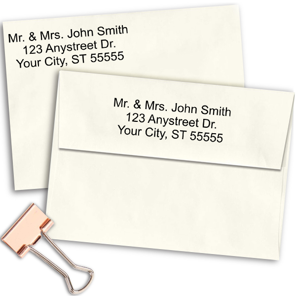 3 Line Self Inking Personalized Address Stamp