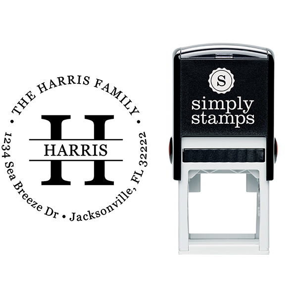 Round Letter Address Stamp Stamp Body and Imprint
