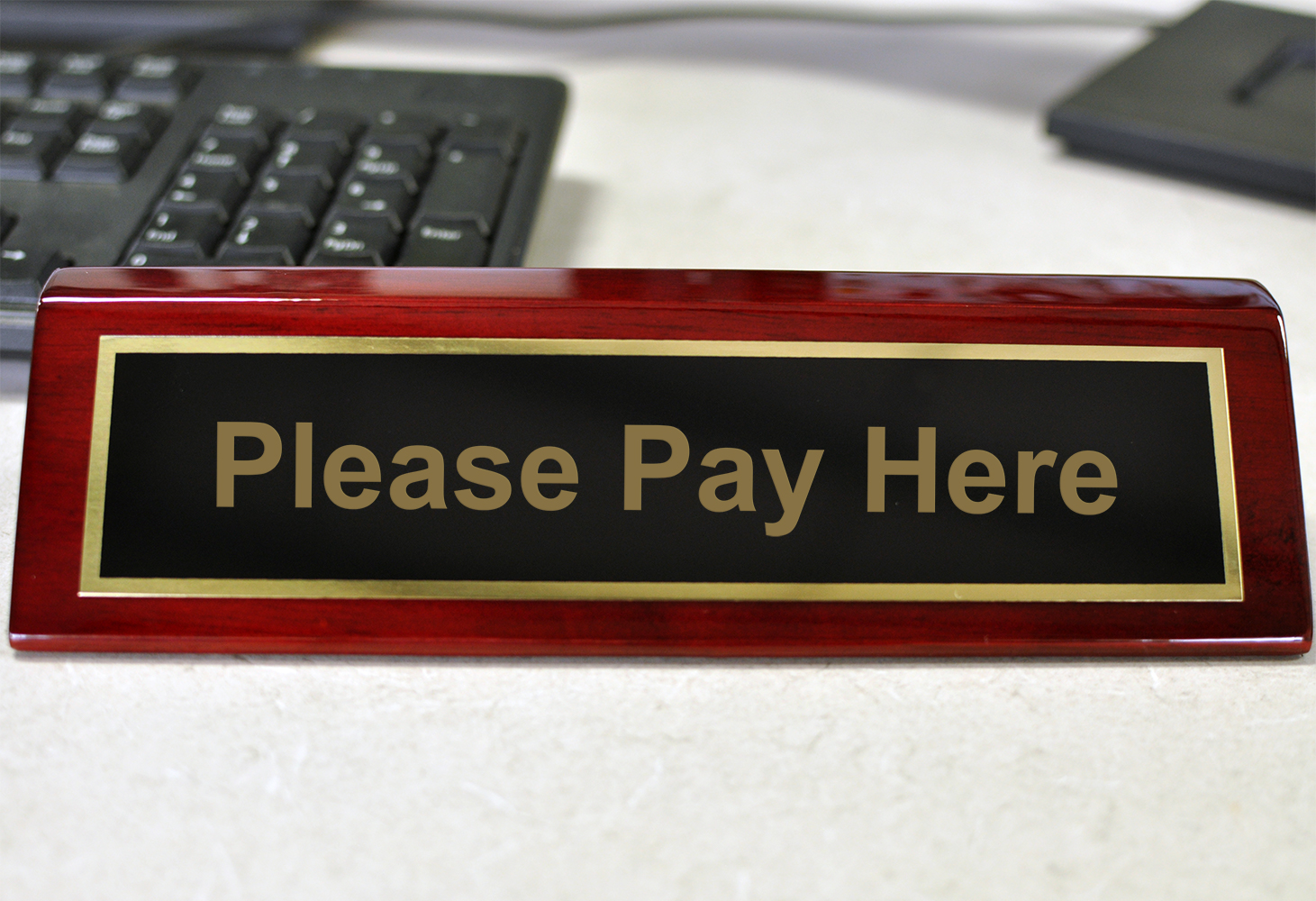 Please Pay Here Deskplate