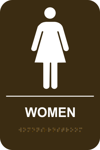 WOMEN Stock Sign - Brown