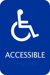 Blue Handicapped ADA Sign