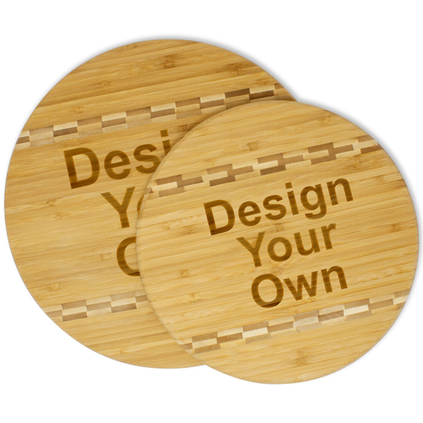 Personalized Letter and Name Bamboo Cutting Board with Butcher Block Inlay