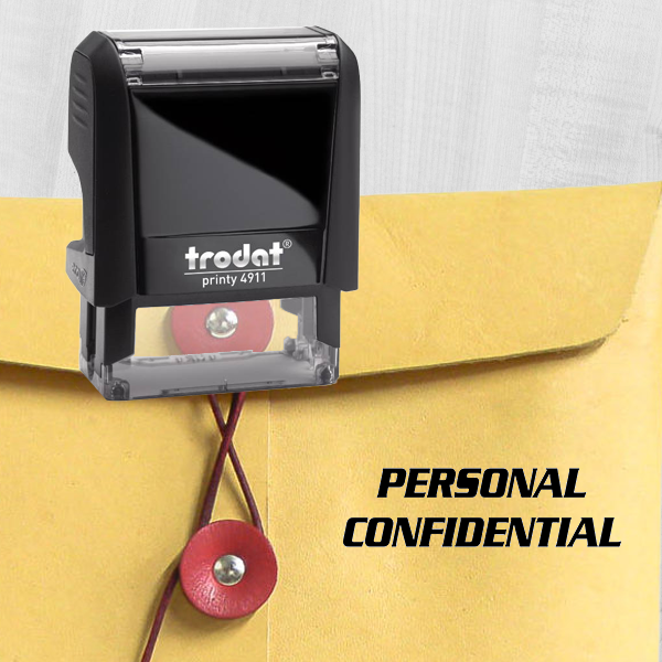 PERSONAL CONFIDENTIAL Stock Stamp