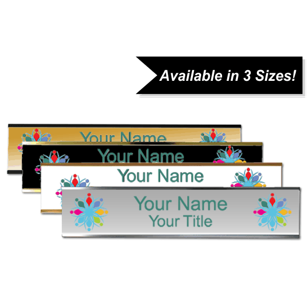 Full Color Wall Name Plate with Aluminum Holder