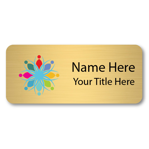 1.5 x 3.5 Brushed Gold Name Tag