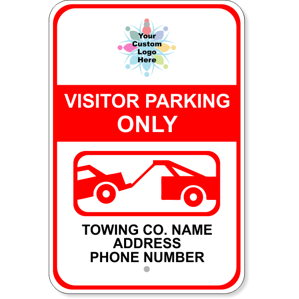 Custom Visitor Parking Only Tow Away Sign