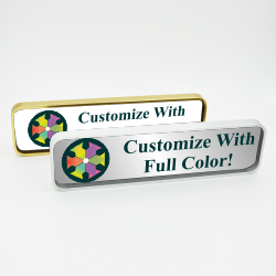 Executive Wall Nameplate with Full Color Insert (Rounded Corners)
