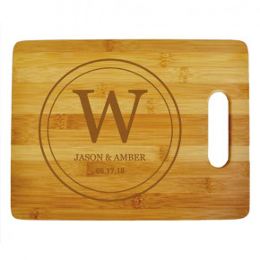 Double Circle Monogram Large Cutting Board