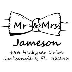 Couples Address Stamp Bow Tie
