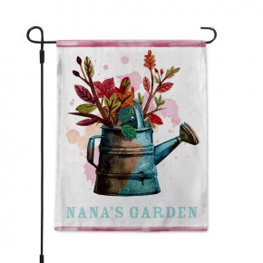 Rustic Watering Can Custom Garden Flag