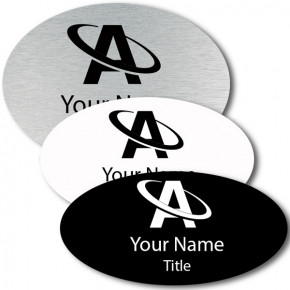 Engraved Oval Name Tag