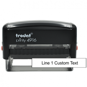 1 Line Custom Rubber Stamp