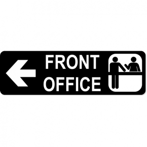 Front Office Left Sign