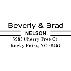 Double Line Last Name Address Stamp