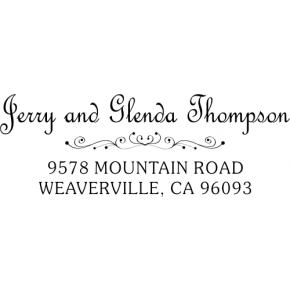 Thompson Heart Deco Rubber Address Stamp